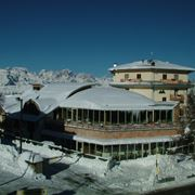 Panoramica invernale dell'Hotel Montana